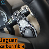 Adapt to Jaguar XF XJ XE F PACE F TYPE accessories emblem stickers The steering wheel shift paddles carbon fiber interior trim