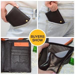 Image 2 - Laorentou Men Wallet Genuine Leather Casual Wallet for Men Short Wallet Standard Wallets Card Holders Vintage Luxury Man Purse