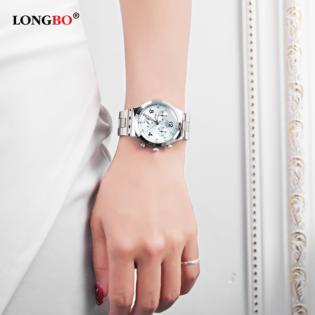 2018 LONGBO New Fashion Ladies Watches Waterproof 30M Women Quartz Watch Dress C