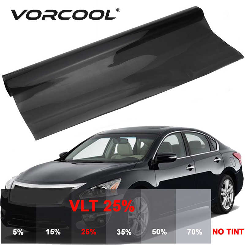 VORCOOL 0.76*6M Film Black 25% Light Transmittance Glass Explosion-proof Tinting Flim Auto Window Tint Solar Film Sticker Cover