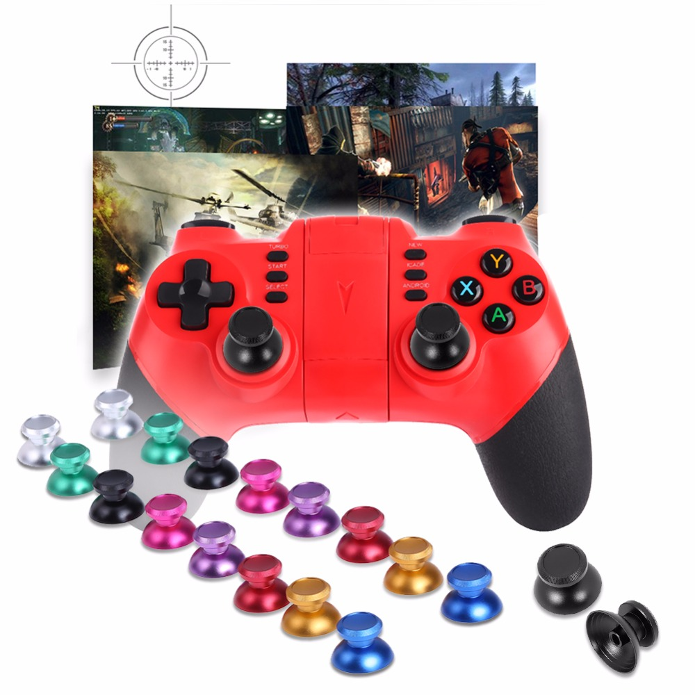 2pcs Metal Aluminum Analog Thumb Sticks Thumb Joystick Caps For PS4 For XBOX ONE Controller for Game Pads Replacement Stick Cap