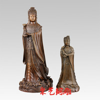 GOOD MAZU statue # TAIWAN family HOME efficacious Protection Sea God Mazu Guanyin bronze statue bless Safety Health S SIZE