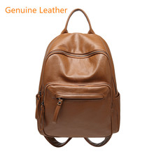Women Backpack for School Style Leather Bag For College Simple Design Women Casual Daypacks mochila Female Famous Brands цена 2017