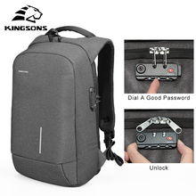 Kingsons Anti-theft External USB Charging Laptop Backpack Waterproof for Notebook Bag Business Travel Men and Women Computer