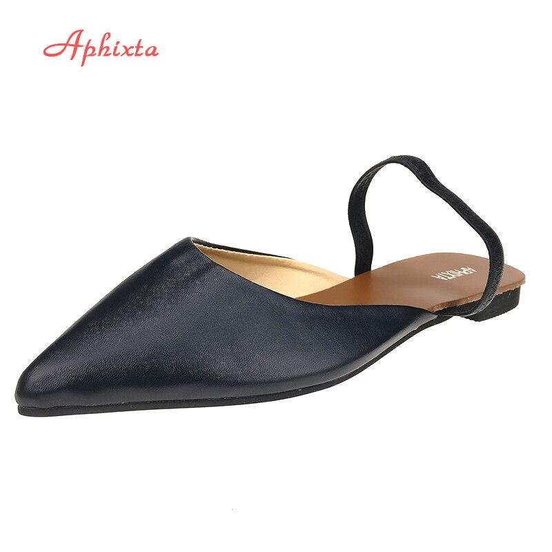 Aphixta Mode Frauen Dias Spitz Sommer Schuhe Quadratische