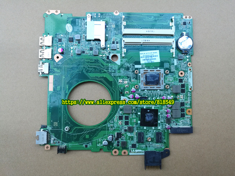 766715-001 system board fit for HP PAVILION 15-P SERIES motherboard 766715-501 DAY23AMB6C0 DDR3 maiboard 100% test laptop notebook motherboard system board 734826 501 734826 001 for hp pavilion touchsmart 15 15 n a4 5000m series 100% tested