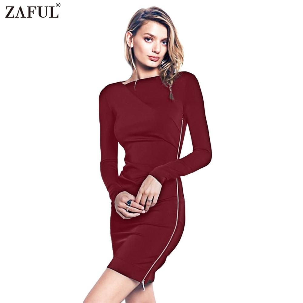 zaful bodycon sheath dress long sleeve party sexy dresses