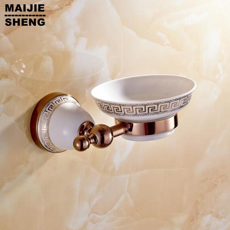 Rose red golden brass Soap basket soap dish/soap holder /bathroom accessories,bathroom furniture toilet vanity accessories