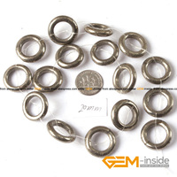 20mm 23mm Ring Shape Silver Gray Pyrite Beads Natural Stone Beads DIY Beads For Jewelry Making