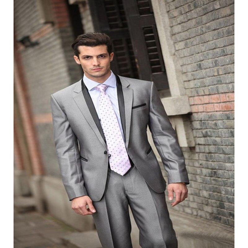 Image Sposa Del Smoking giacca 1 As custom Groomsman Fit Pantaloni Uomo Da  Vestito Bordo Su Sposo Suit Nuovi Per Abiti Nero Misura Vestiti Pulsante  Mens ... 68136ccc297
