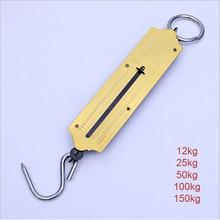 12 кг, 25 кг, 50 кг, 100 кг, 150 кг, весы для багажа, весы для рыбалки, путешествий, механические весы с подвесным крючком, портативные весы