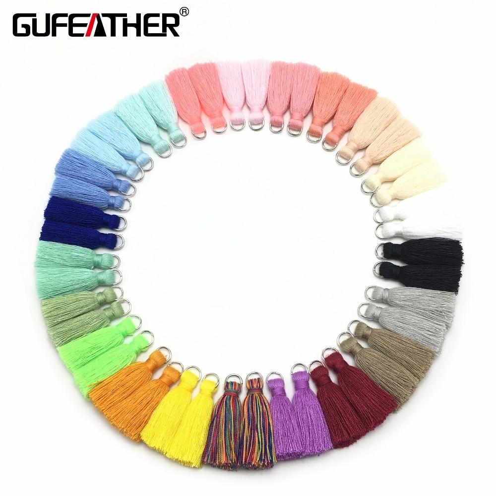 GUFEATHER L102/3CM/Fringe/Earring Accessories/Mini Tassel/Jewelry Accessories/Accessories Parts/Jewelry/10piece