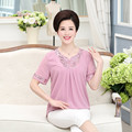 2016 Summer New Fashion Plain Color Women's Plus Size Casual Chiffon Blouse  Short Sleeve