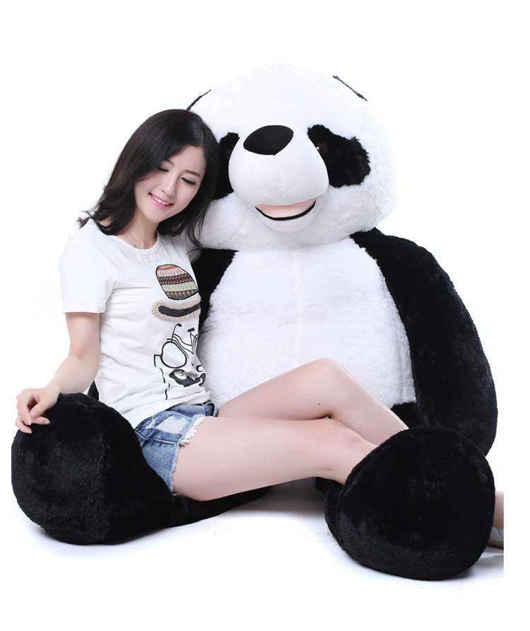 stuffed panda plush toy huge 175cm Gaint panda doll soft sleeping pillow birthday gift 0317 the huge lovely hippo toy plush doll cartoon hippo doll gift toy about 160cm pink