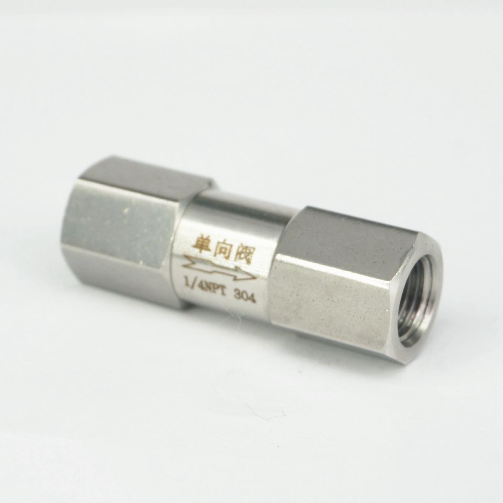 1/4 NPT Female Check One Way Valve 304 Stainless Steel Water Gas Oil Non-return 1 8 npt female check one way valve 304 stainless steel water gas oil non return