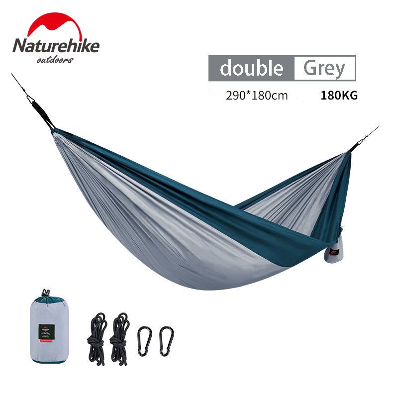 NatureHike Hammock Bear Weight 180KG Double Persons Ultralight Camping Hammock Tent 340T Polyester Outdoor Camping Hammock image