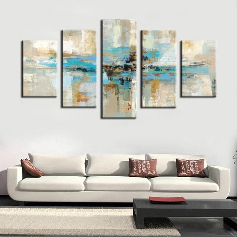 Aliexpress.com : Buy 5pcs Canvas Prints Wall Art Turquoise ...