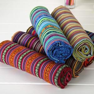 Image 2 - 新しい100X150CMポリエステル/綿生地エスニック装飾織物ソファカバークッション布カーテン22スタイル送料無料