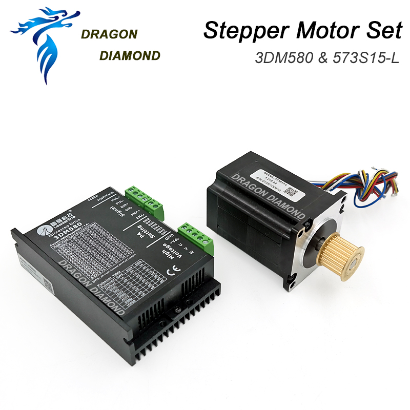 Leadshine 5 8A 573S15 Stepper Motor and 3MD580 Stepper Driver 3 phase for Co2 Laser Cutting