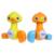 100% novo Curta Vivo Pato Amarelo Pato de Estimação Coelho Imprensa Segurar o cabeça Vai Ir para o Banho Do Bebê Brinquedos Pato Presente Do Bebê Por Atacado de Varejo!!