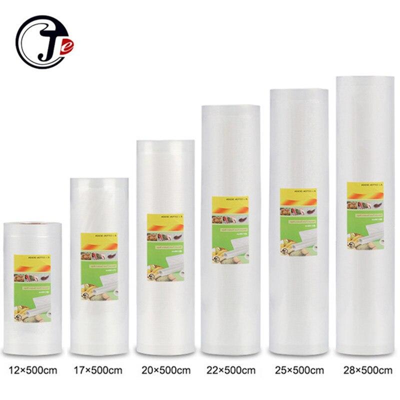 В наличии 6 размеров, 12/17/20 мм/22 мм/28/25*500 см вакуумные запайки пакетов пакеты для вакуумной упаковки зерна машины для упаковочных материалов, ...