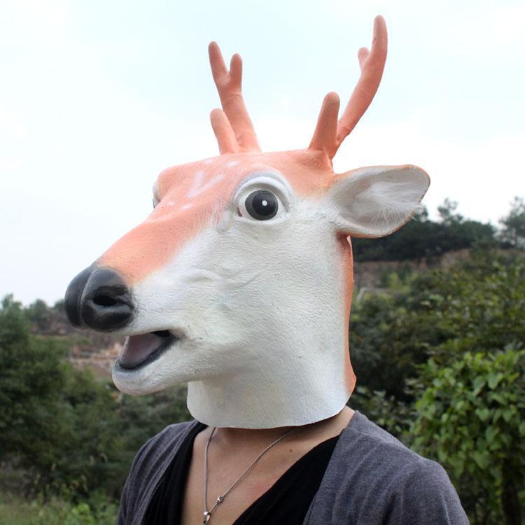 Party Maskenbal Guma Maske za lateks životinje Sika Spotted Deer - Za blagdane i zabave - Foto 1