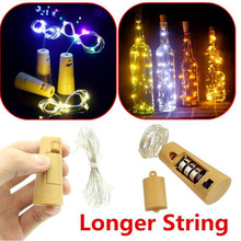 Z30 20 ledd 2m Kobber Wire String Light mini fairy natt lys soverom lampe Wine Bottle Cork Lights for Wedding Party Decoration