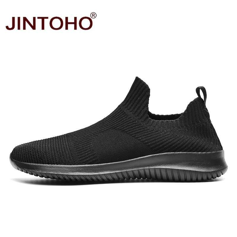 Jintoho Mùa Hè Nam Thời Trang Giày Thoáng Khí Nam Thời Trang Giày Slip On Sneakers Nam Nam Giá Rẻ Cho Nữ Giày Mà Không Cần Dây