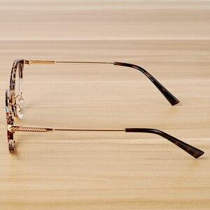 Image 3 - Montura de gafas de diseño Vintage para hombre y mujer, lentes transparentes, montura para gafas ópticas casuales, a la moda, unisex