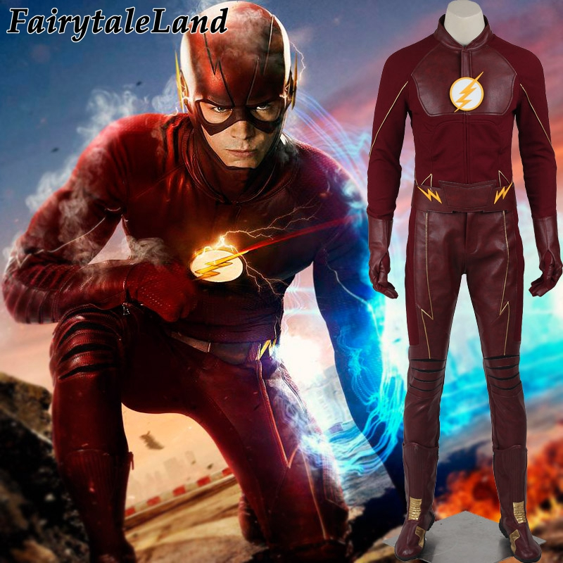 2017 The <font><b>Flash</b></font> Season 2 <font><b>Barry</b></font> <font><b>Allen</b></font> <font><b>Flash</b></font> <font><b>costume</b></font> cosplay adult halloween <font><b>costumes</b></font> <font><b>flash</b></font> superhero <font><b>costume</b></font> the <font><b>flash</b></font> suit men image