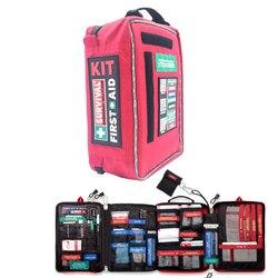 4 secciones Kit de primeros auxilios de emergencia de Kit de primeros auxilios para trabajo y casa al aire libre Camping senderismo viajes de supervivencia kit de