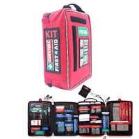 4 sezioni di Primo Soccorso Kit Di Emergenza Kit di Primo Soccorso Medico Sacchetto Per Posto di Lavoro E Casa All'aperto Escursione di Campeggio di Viaggio di Sopravvivenza Di kit