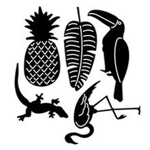 Flamingo Toucan Pineapple Tropic Leaf Metal Cutting Dies for Making Card Scrapbooking Decorative Stencils New 2019