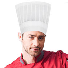 1/5/10PCS Disposable 9 Inch High Chef Hat Non Woven Adjustable Tall(China)