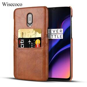 Чехол-держатель для кредитных карт для Oneplus 6 6t 7 Pro, Роскошный кожаный бумажник, тонкий бампер, жесткая задняя крышка для One Plus 7 Oneplus6 128gb