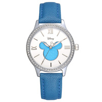ladies wristwatch Disney brand woman blue watch Genuine leather quartz women clocks Mickey Mouse waterproof women's watch