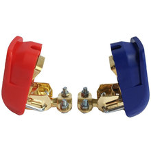 2PCS/pair Quick Release Battery Terminals Connector Clamps 12V Car Battery Jump Start Connector Positive & Negative