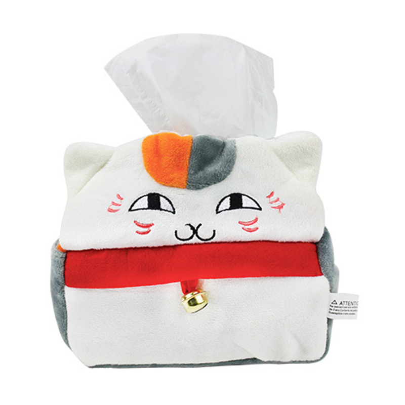 1pcs Kawaii Natsume Yuujinchou Nyanko Sensei Plush Stuffed Toys White Cat Paper Box Storage Bags Home Decoration Toy Kids Gift anime natsume yuujinchou pu white zero wallet the foodie nyanko sensei coin purse with interior zipper pocket