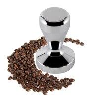 Эспрессо кофе тампер  высококачественная нержавеющая сталь  твердый тяжелый  стиль бариста  плоское основание  51 мм