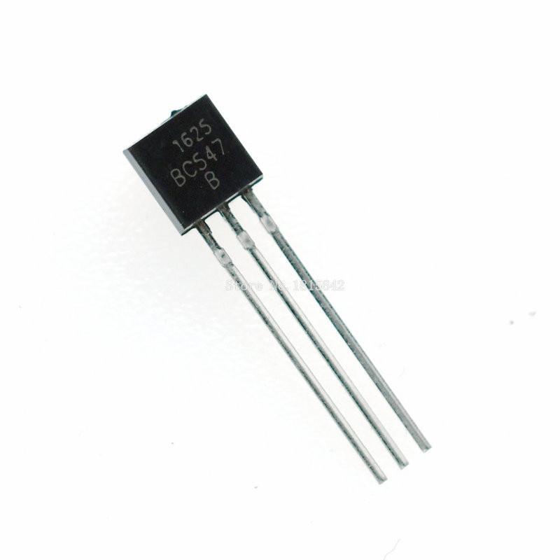 100PCS/Lot BC547B BC547 100MA 45V 0.1A NPN TO-92 Transistor