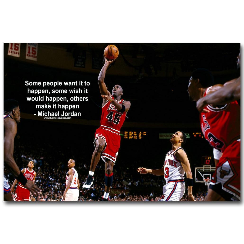 Michael Jordan Motivational Succeed Quote Art Silk Fabric
