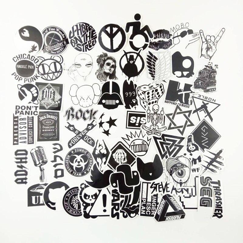 60PCS black mix styling Street style sexual girl sticker bomb waterproof graffiti Doodle sticker skateboard decal toy
