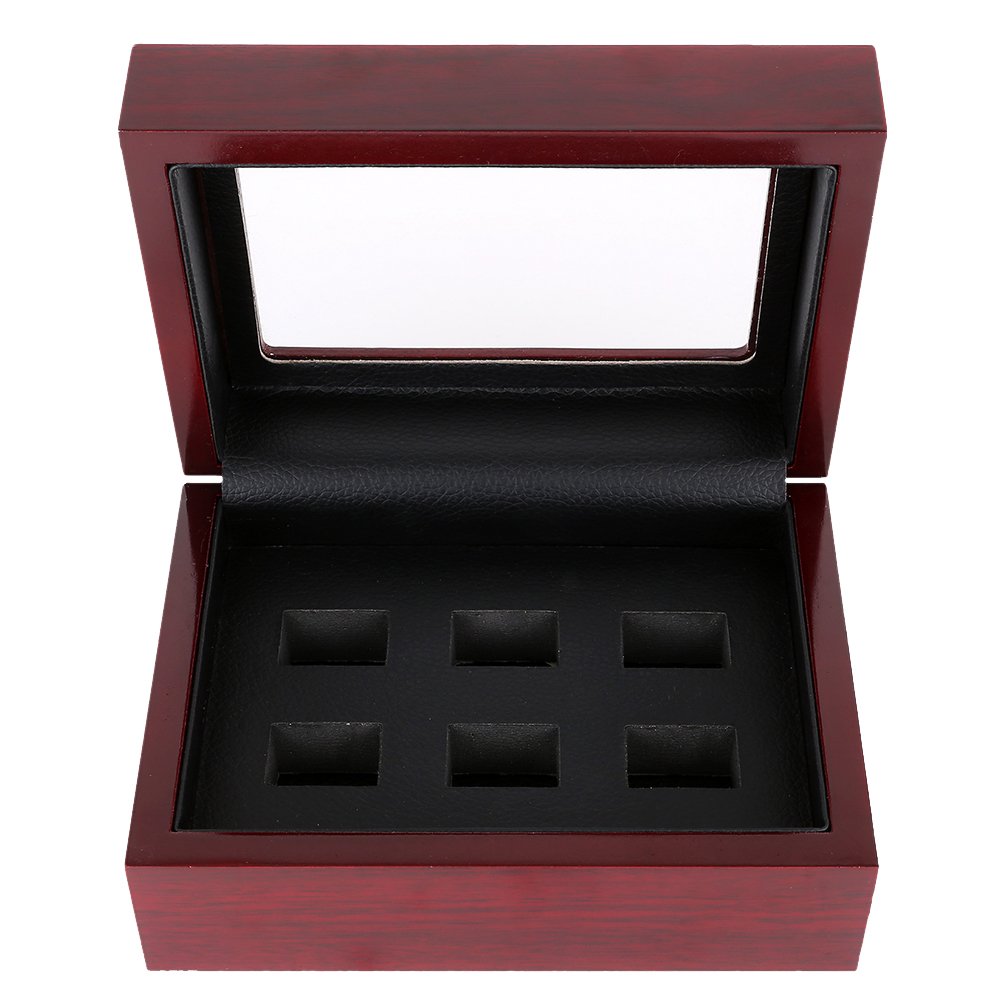 Universal With Holes Large Capacity Durable Wooden Championship Ring Vintage Collection Jewelry Gift Organizer Home Display Box