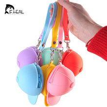FHEAL Cute Candy Color Baseball Cap Coin Bag Headphone Jewelry silicona Storage Bag Portable Zipper Key Storage Boxes