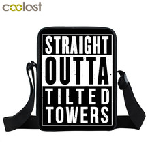 Floss Like A Boss Straight Outta Tilted Tower Mini Messenger font b Bag b font Boys