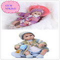 Adora 42cm 17inch Silicone Reborn Baby Doll With Handmade Sweater Clothes Good Quality Beneca Bebe Reborn Silicone As Girl Toys