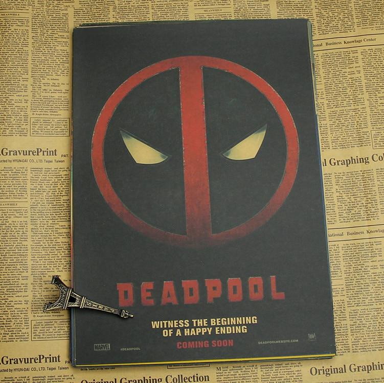 Deadpool Poster / Marvel superhjälte dekoration målning - Heminredning - Foto 2