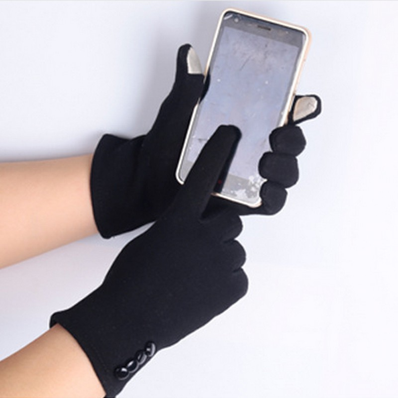 Fashion Winter Female Touch Screen Women Warm Wrist Mittens Touch Gloves S4
