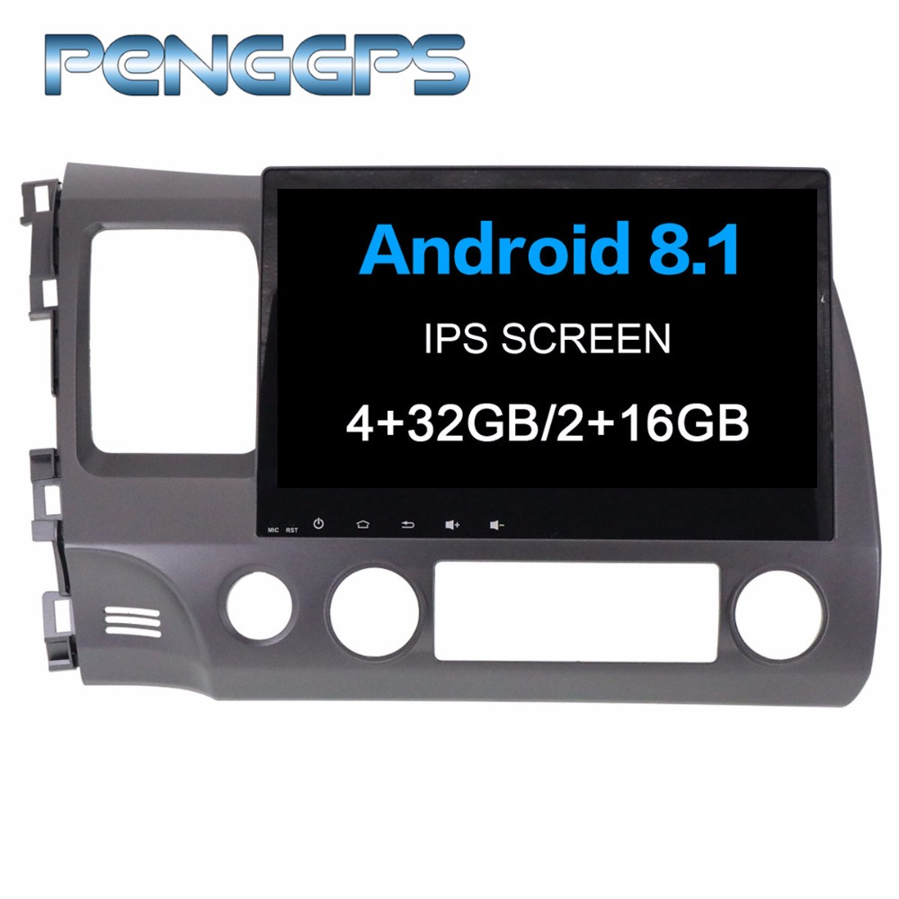 Android 8.1 GPS Navigation for Honda Civic sedan 2007 2011 DVD Player 10.1 Inch IPS Touch Screen HIFI Music Mirror Link FM Unit