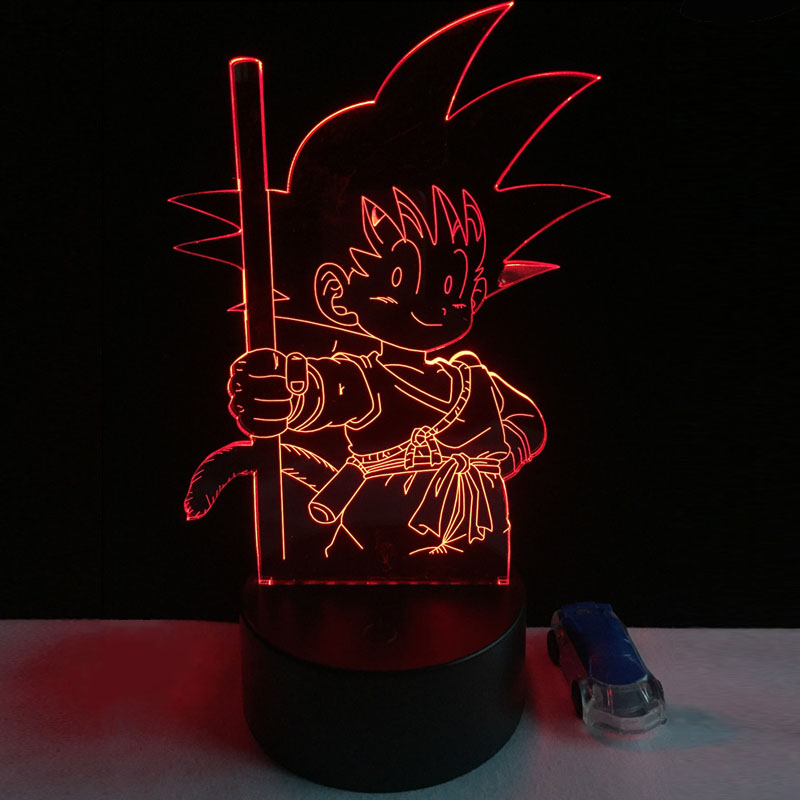 2017 HOT 3D Cartoon Super Goku Monkey USB LED Lamp 7 Dragon Ball Colorful Mood Bulb Night Lights Infantile Child Bedroom Decor colorful waterdrop cartoon ombre led night light